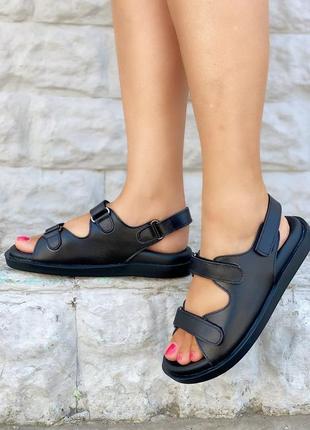 Распродажа, кожаные крутые сандалии босоножки, хит