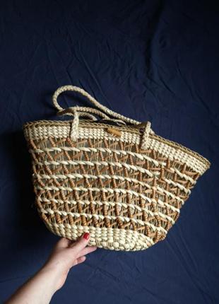 Соломяная сумка