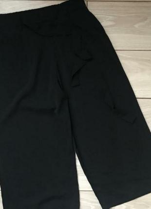 Брюки ,/ кюлоты/ zara /укороченые широкие брюки кюлоты