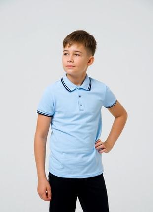 Школьная футболка-поло для мальчика смил smil 122-140р. поло сміл2 фото