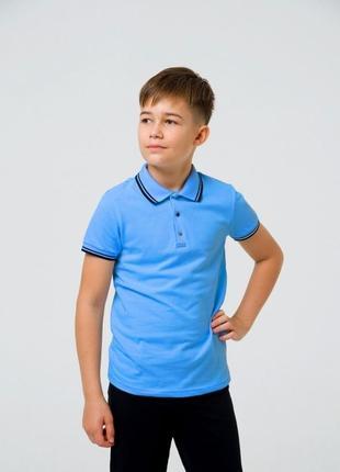 Школьная футболка-поло для мальчика смил smil 122-140р. поло сміл4 фото