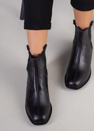 Ботинки женские натуральная кожа замша