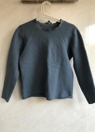 Свитерок лонгслив пуловер cos синий голубой шерсть