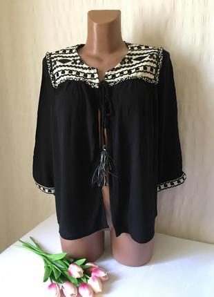 Накидка кардиган блузка  в стиле бохо f&f