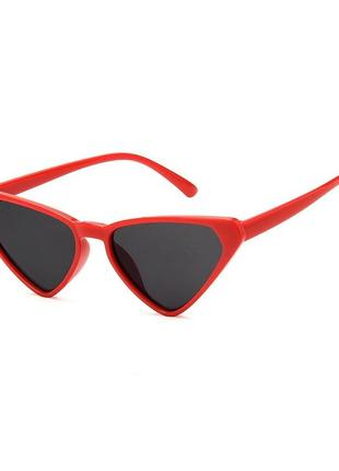 Солнцезащитные очки кошачьи очки черные очки красные очки лео