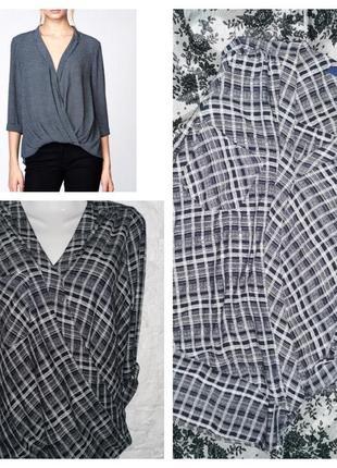 Мега стильная фирменная блуза с эффектом запаха next pp 10