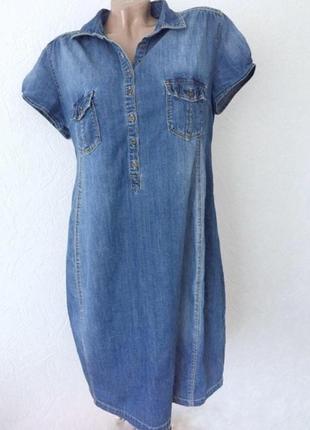 Джинсовое платье для беременных р.38/40 h&m mama