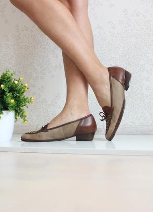 Кожаные туфли лоферы, натуральная кожа, ортопедическая стелька, бренд salamander оригинал