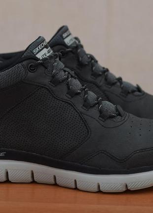 Серые высокие кроссовки, ботинки skechers flex advantage 2.0, 43 размер. оригинал
