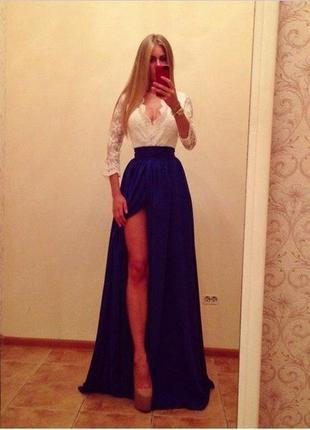 Мегакрутое вечернее платье в пол
