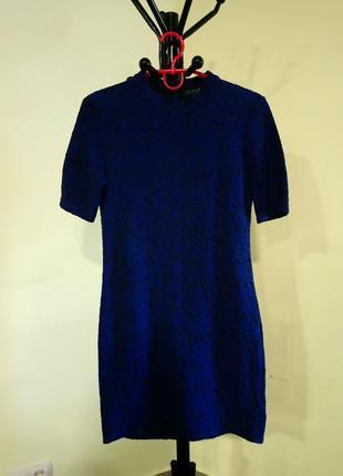 Черно-синее платье topshop