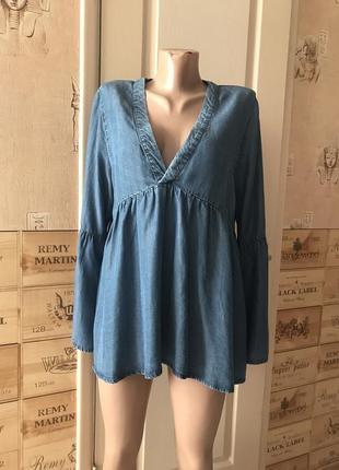 Блуза джинсовая лиоцел