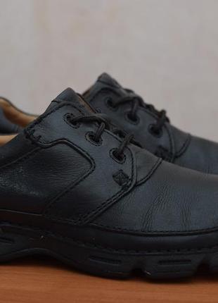 Черные кожаные ботинки, кроссовки, туфли clarks, 43-44 размер. оригинал