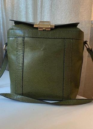 Сумка вместительная сумка на длинной ручке сумка хаки сумка под кожу кожаная сумка