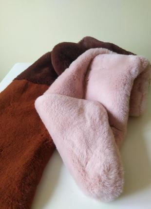 Шикарная шарф-накидка на пальто,из искусственного меха