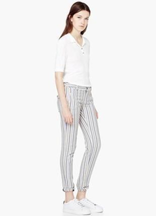 Стильные брюки mango. штаны в полосочку
