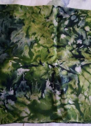 Платок шейный шёлк батик