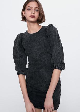Джинсовое платье zara премиальная коллекция