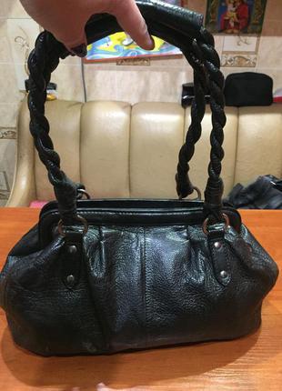 Кожаная сумочка marks & spencer