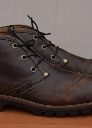 Коричневые кожаные ботинки, туфли clarks, 44 размер. оригинал