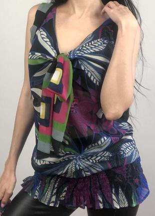 Блузка с завязками desigual