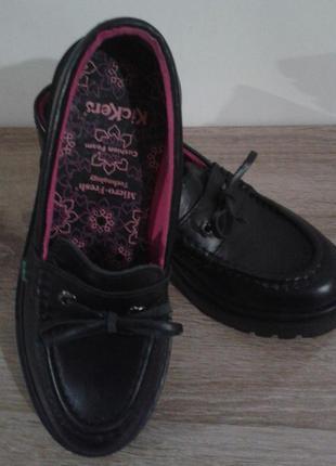 Туфли*лоуферы kickers, размер 37
