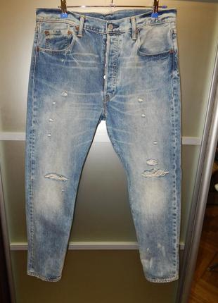 Джинсы levis 501 ct customized tapered dirty 36х30