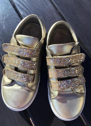 Кроссовки для девочки saba gold matt фирмы evie