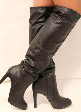 Сапоги-ботфорты, новые, bershka! 38 размер