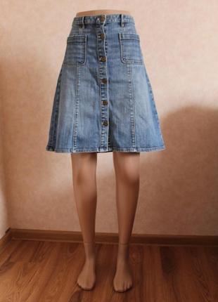 Трендовая юбка, с пуговицами от logg h&m