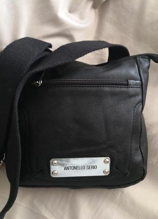 Шикарная мега стильная кожаная сумка antonello serio, италия
