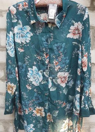 Шифоновая блуза primark с цветочным принтом
