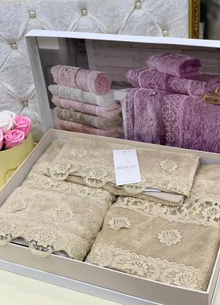 Новинка!!!набор полотенец maison d'or