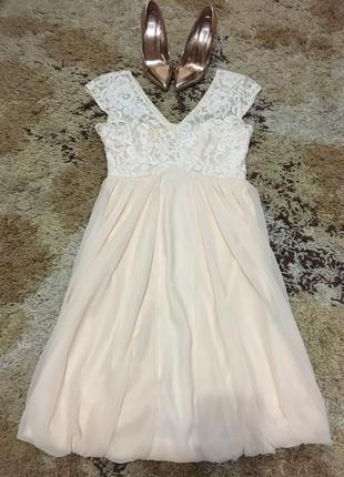 Шикарное фирменное платье с красивым ажуром coast от asos