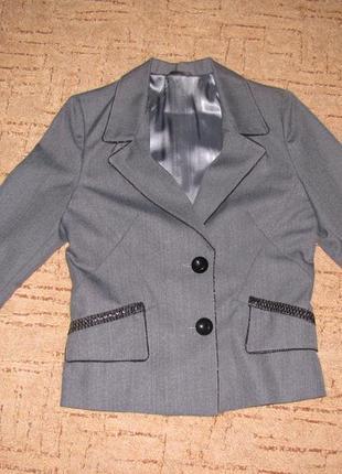 Женский серый пиджак на подкладе