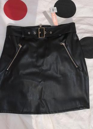 Шикарная юбка под кожу