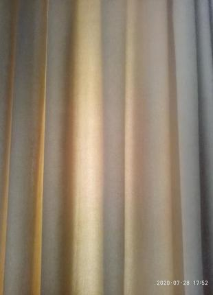 Новые шторы из микровелюра.2 фото