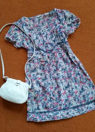 Платье в подарок  в цветы , платье шифоновое, платье миди