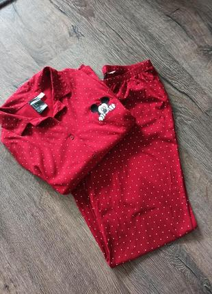 Пижама красная disney h&m, одежда для сна