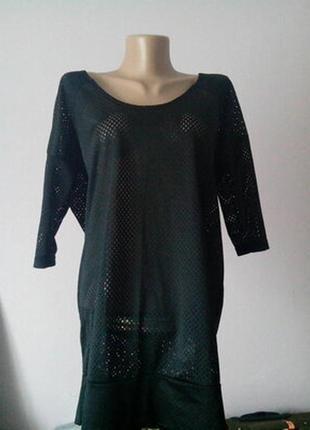 Новая блузка туника bonprix collection в сетку