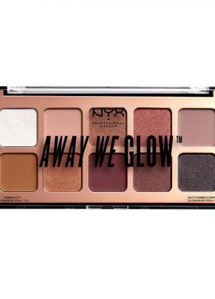 Палетка теней nyx away we glow shadow palette