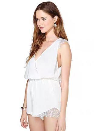 Новый белый комбинезончик для сна, одежда для сна.
