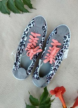 Текстильные мокасины кроссовки avon