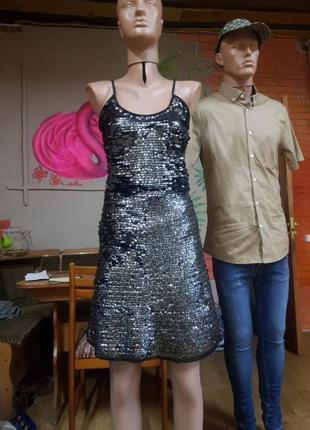 Платье паетка