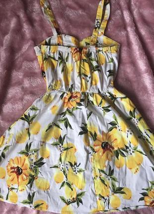 Літнє яскраве платтячко з лимончиками🍋