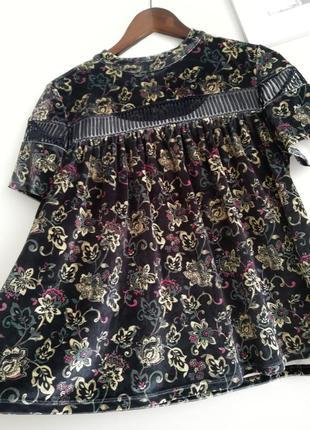 Велюровая блуза