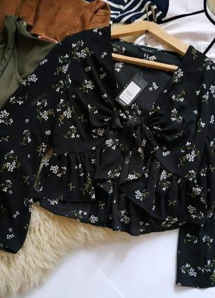 Нежнейшие принт, красивая блуза