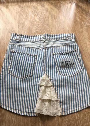 Летняя джинсовая юбка denny rose