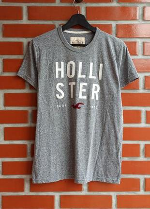 Hollister серая футболка размер s