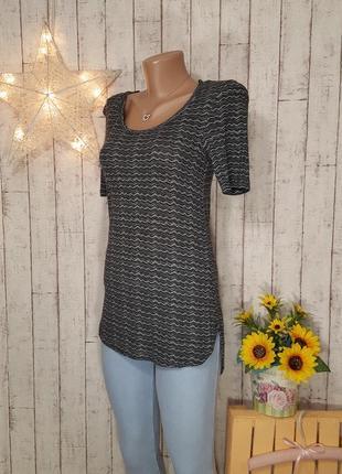 Удлиненная серая длинная футболка туника майка блуза топ вискоза gina tricot р. s